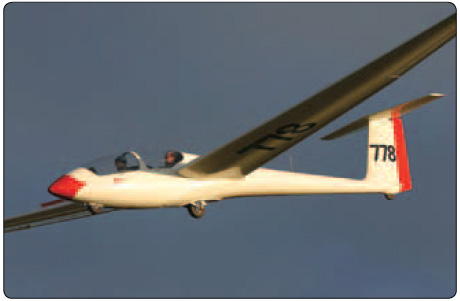 Figure 1-6. A sailplane is a glider designed to fly efficienctly and gain altitude solely from natural forces, such as thermals and ridge waves.