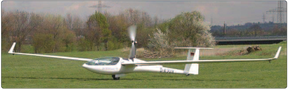 Figure 2-16. A DG-808B 18-meter high-performance glider in self-launch.