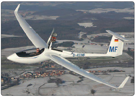 Figure 2-17. A Schleicher ASH 26e motor glider with the sustainer engine mast extended.