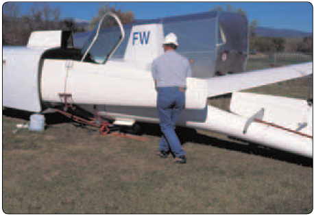 Figure 6-3. Components of a glider stored and transported in a trailer.
