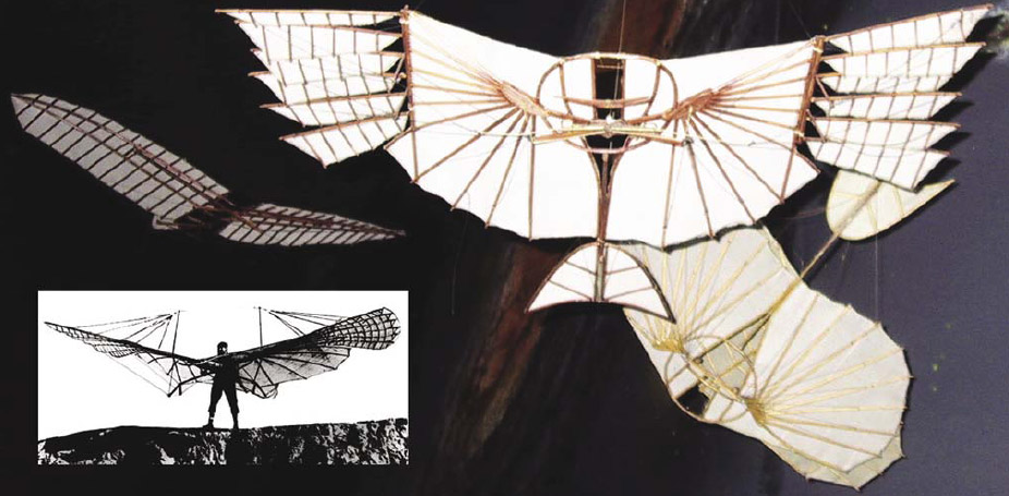 Figure 1-2. Various models of Otto Lilienthal's glider, the forerunner of weight-shift control aircraft today.
