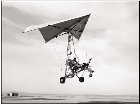 Figure 1-4. NASA testing the Rogallo wing, which led to the modern hang glider and WSC aircraft.