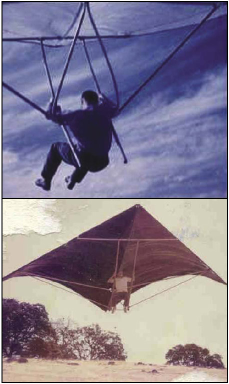 Figure 1-5. Barry Palmer flying a foot-launched hang glider in 1961.