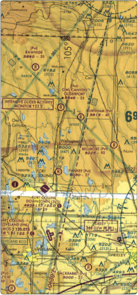 Figure 11-1. Excerpt from a Sectional Aeronautical Chart.
