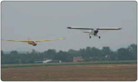 Figure 12-1. Gliders use tow planes to launch and obtain altitude.