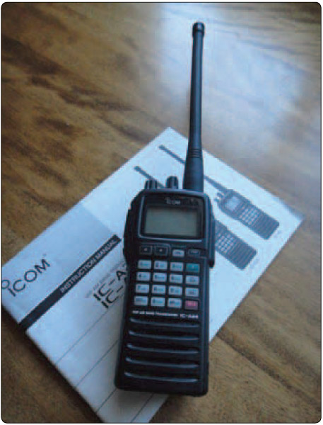 Figure 12-16. On a cross-country tow, the tow pilot and glider pilot should have two way communication using portable radios.
