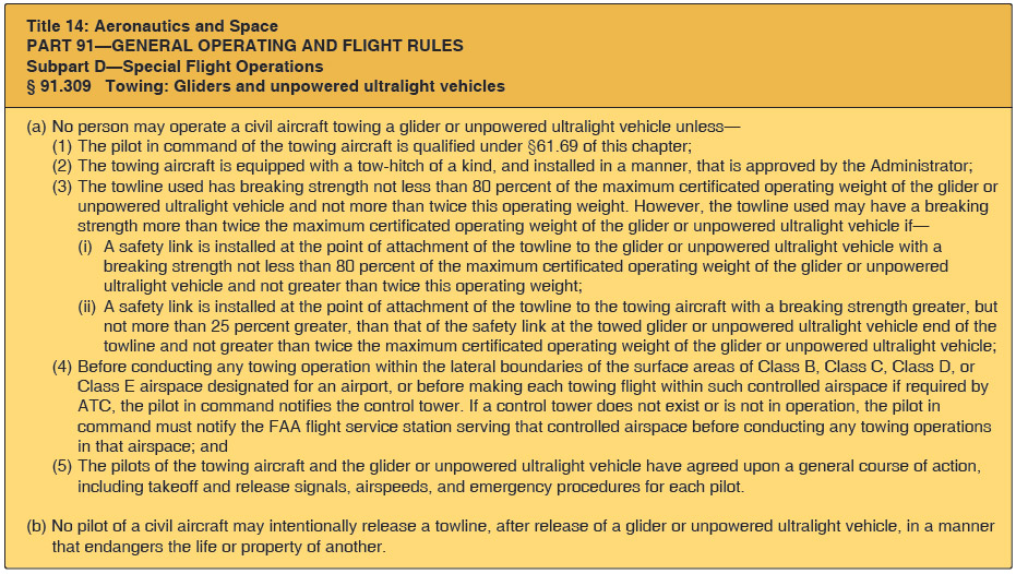 Figure 12-3. Excerpt from the Code of Federal Regulations, part 91, section 91.309.