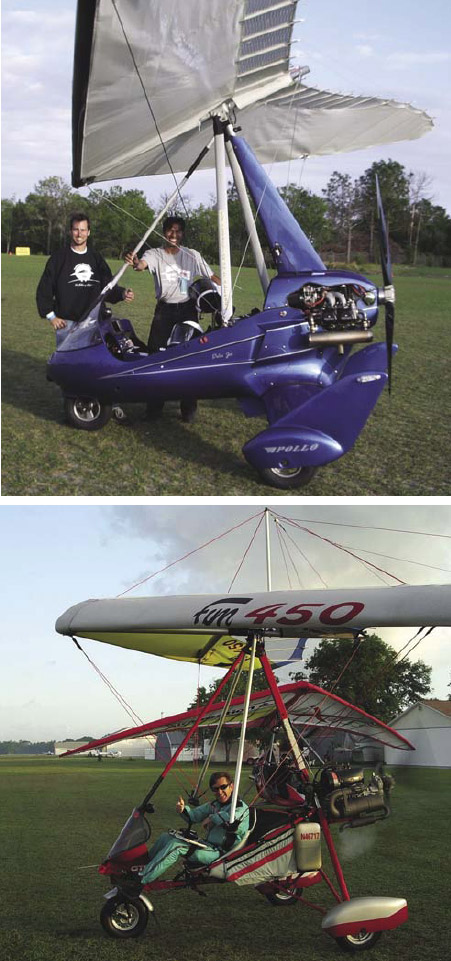 Figure 2-17. Fast WSC aircraft with complete streamlining (top) and slow WSC aircraft with minimum streamlining (bottom).