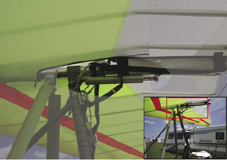 Figure 3-23. Hydraulic inflight trim systems that move the hang point in flight controlled by the pilot.