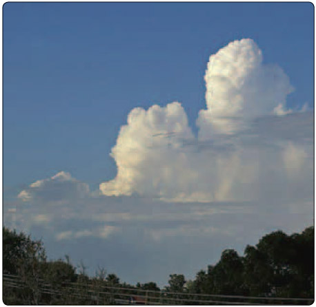Figure 9-16. A cumulus growing to a towering cumulus.