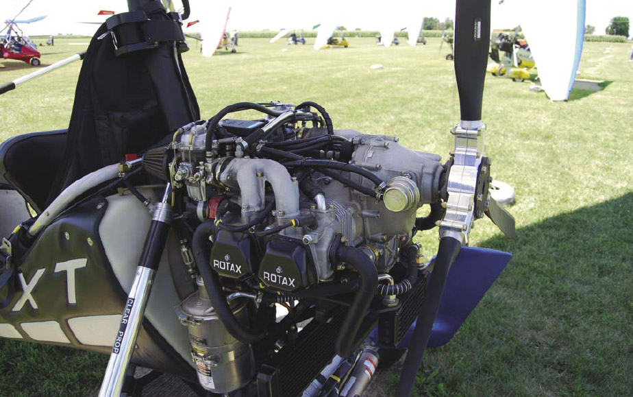 Figure 4-3. Four-stroke water- and oil-cooled engine.