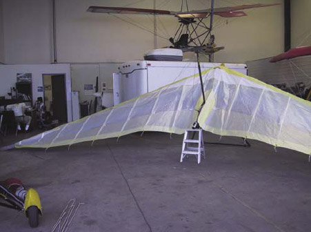 Figure 5-23. Wing ready to tension.