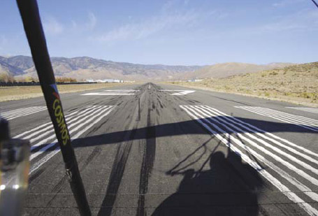Figure 7-2. Lined up in the middle of the runway and ready to apply full power for takeoff.