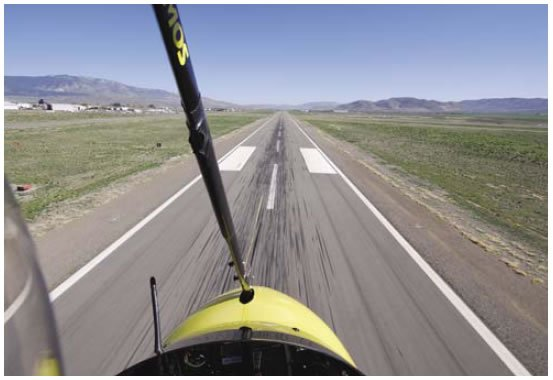 Figure 11-11. Maintaining speed from final approach in the center of the runway at about 20 feet above the runway.