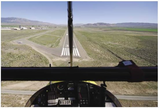 Figure 11-5. Lining up on the runway centerline and maintaining position.