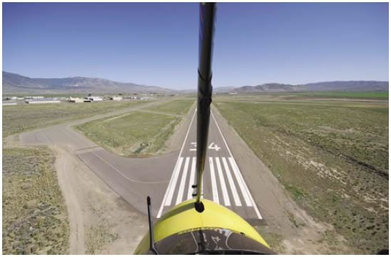 Figure 11-6. Coming to the runway and increasing speed slightly within 50 feet of the ground.