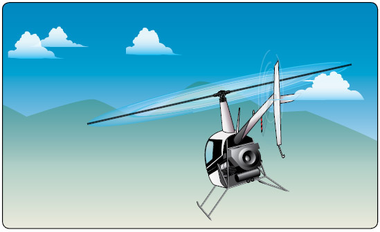 Figure 13-10. Helicopter heading straight for mountain.