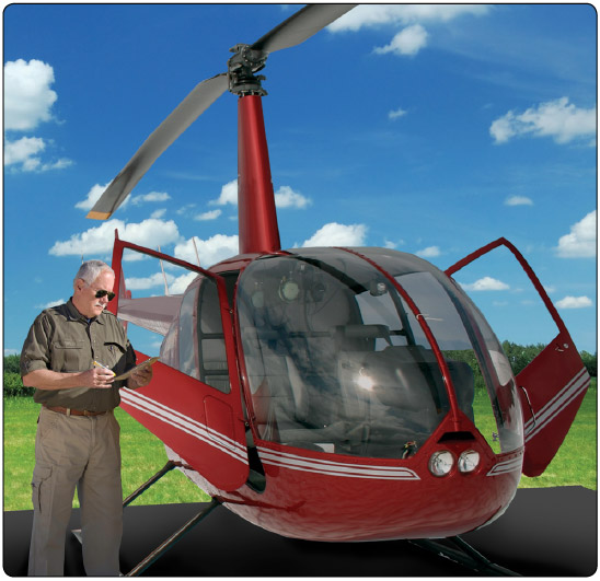 Figure 8-1. The pilot in command is responsible for the airworthy condition of the aircraft and using checklists to ensure proper inspection of the helicopter prior to flight.