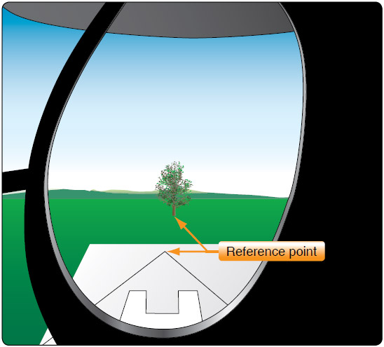 Figure 9-8. The key to hovering sideward is establishing at least two reference points that help maintain a straight track over the ground while keeping a constant heading.